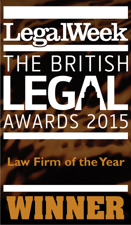 Legal Week The British Legal Awards - logo for Law firm of the year winner