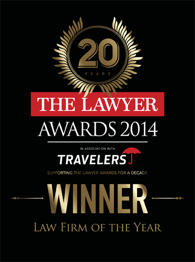 The Lawyer awards 2014 - logo for Law firm of the year winner
