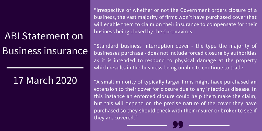 Covid 19 UK and US Perspectives Insurance
